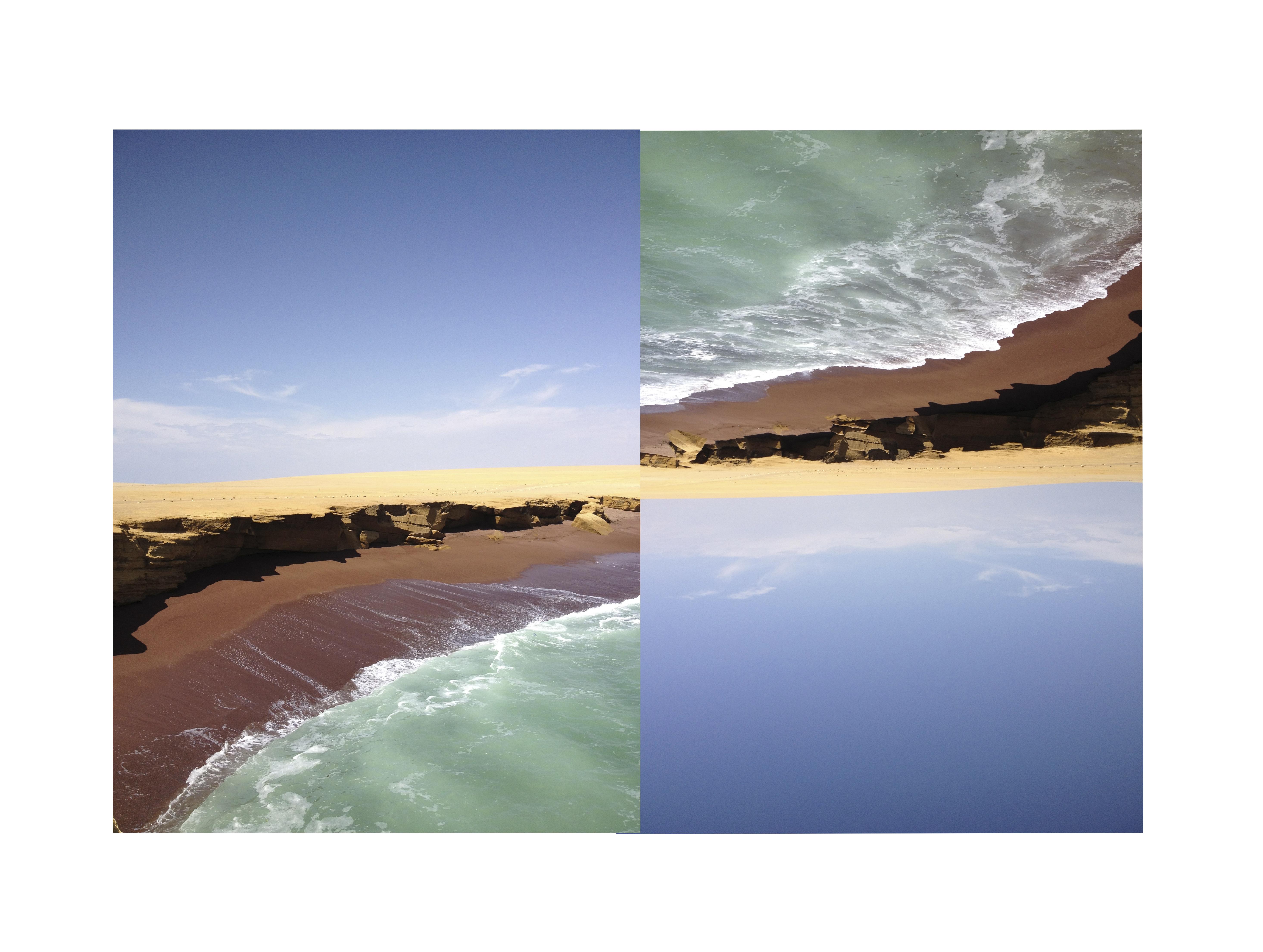 Peru 2013 landscape red beach Diptico